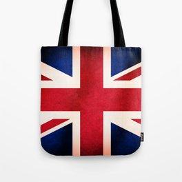 Union Jack UK British Grunge Flag  Tote Bag