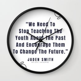 13   |  Jaden Smith Quotes | 190904 Wall Clock