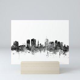 Christchurch New Zealand Skyline Mini Art Print