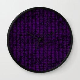 Purple Forest II Wall Clock