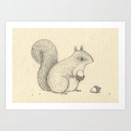Monochrome Squirrel Kunstdrucke