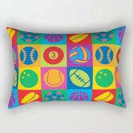 Pop Art Sports Balls Rectangular Pillow