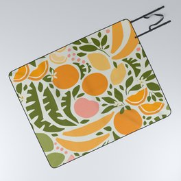 Modern Fruits / Retro Abstraction Picnic Blanket