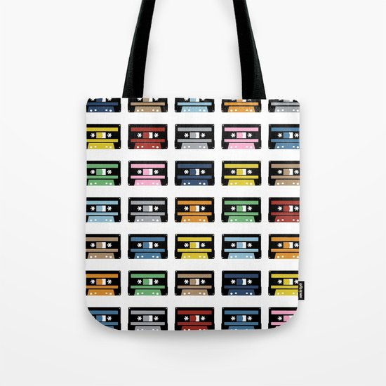Rainbow Black Tapes Tote Bag