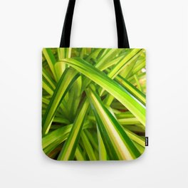 Spider Plant Leaves Tote Bag