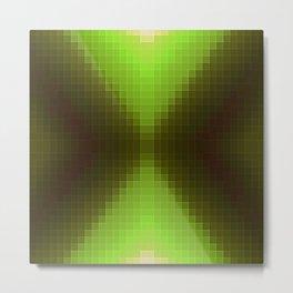 Forest Green Pixels Metal Print