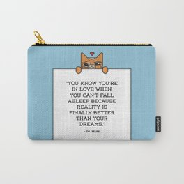 'In Love' Seuss Cat Carry-All Pouch