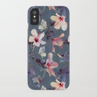 anna iPhone & iPod Cases featuring Butterflies and Hibiscus Flowers - a painted pattern by micklyn