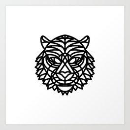 Tiger Head (Geometric) Art Print