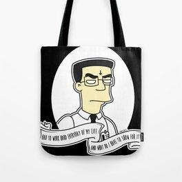 Frank 'Grimey' Grimes Alternative Simpsons Goth Punk Pop Art Tote Bag