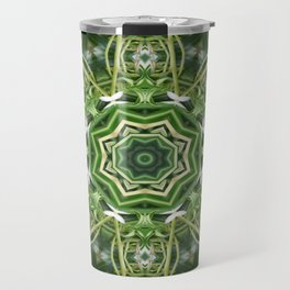Spider Plant Kaleidoscope Art 5 Travel Mug