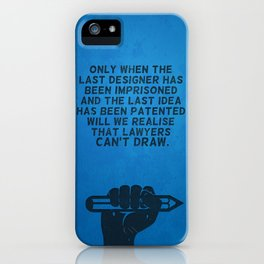 Lawyers can't draw ! iPhone Case