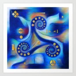 Anabressia - blue spiral planet Art Print