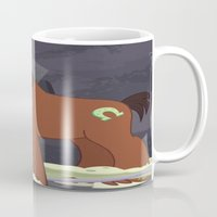 mlp Mugs featuring MLP TROUBLESHOES CLYDE by Kalisourusrex