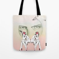 cinderella Tote Bags featuring Cinderella by Kayleigh Day