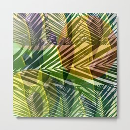 exotic palms abstract Metal Print
