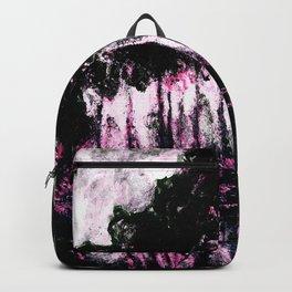 Monet Poplars on the Banks of the River Epte Pink Dark Backpack