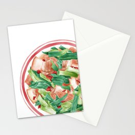 Double Cooked Pork Slices | 回锅肉 Stationery Cards
