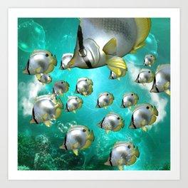 Wonderful butterflyfish  Art Print
