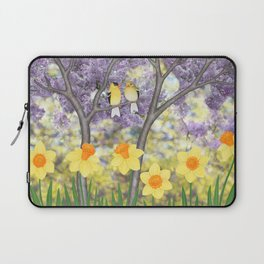 goldfinches, lilacs, & daffodils Laptop Sleeve