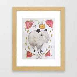 Capybara Prince Framed Art Print