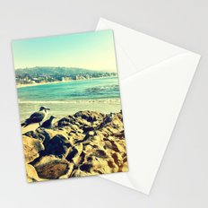 Birds at the beach. Stationery Cards