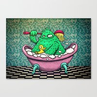 bath Canvas Prints featuring Bath by MaComiX