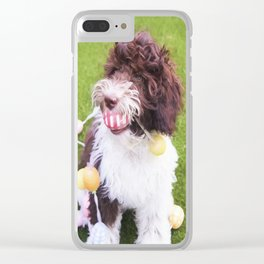Labradoodle Easter Egg Hunt Clear iPhone Case