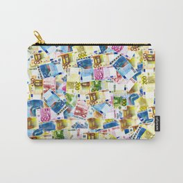 Colorful Euros Pattern - Money - LOA - Abundance - Cash Carry-All Pouch