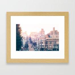 Hills of San Francisco Framed Art Print