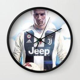 Cristiano Ronaldo To Juventus Wall Clock