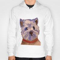 westie Hoodies featuring West highland terrier Westie dog love by Gooberella