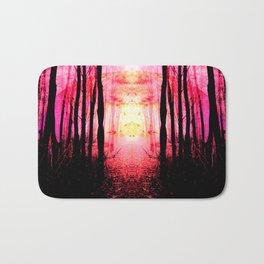 Pink Mystic Sun : Path to Imagination Bath Mat