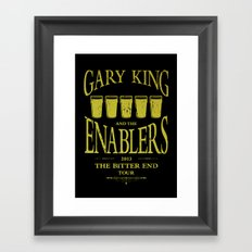 Gary King and the Enablers Framed Art Print