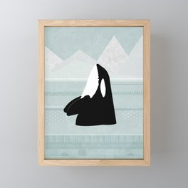 Orca Framed Mini Art Print