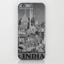 retro retro Visit India poster iPhone Case