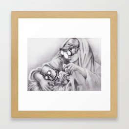 In which Robo-Jesus is a thing. Framed Art Print