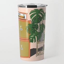 Orange Monstera Travel Mug