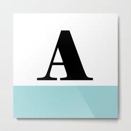 Monogram Letter A-Pantone-Limpet Shell Metal Print