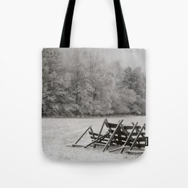 Meadow under snow Tote Bag