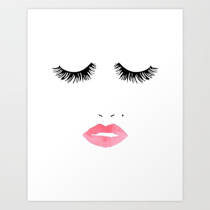 Printable Art,Makeup Print,Makeup Illustration,Lips Print ...
