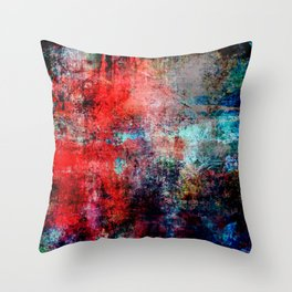 Modern Contemporary Red Abstract IntoDarkness Design Throw Pillow