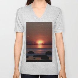 Shock-wave Sunset Unisex V-Neck
