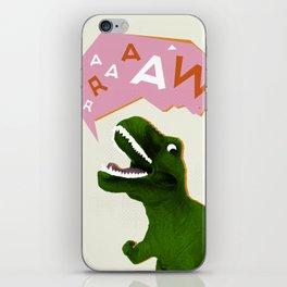 Dinosaur Raw! iPhone Skin