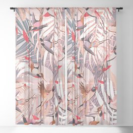 Tropical Mood II. Sheer Curtain