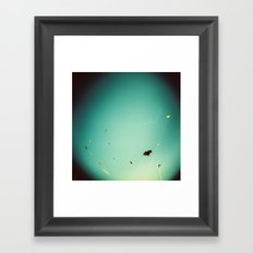kites in the sky Framed Art Print