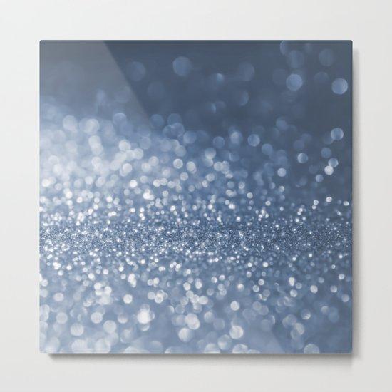 Sparkling sea foam- Aqua Blue glitter effect background on #Society6 Metal Print