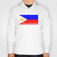 philippines Hoodies featuring flag of Philippines by tony tudor