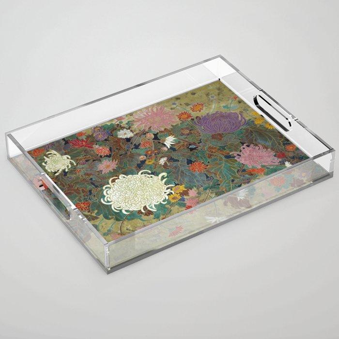 flower【Japanese painting】 Acrylic Tray