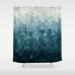 Ice Blue Mountains Moon Love Shower Curtain
